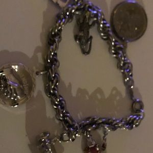 STERLING CHARM Bracelet WITh 4CHARMS